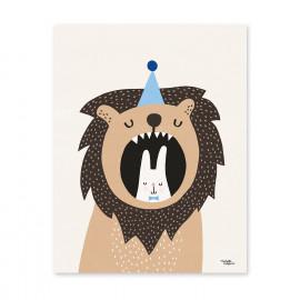 poster 'Lion & bunny' 30x40cm